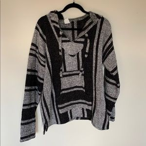 Sweaters - Black and grey poncho